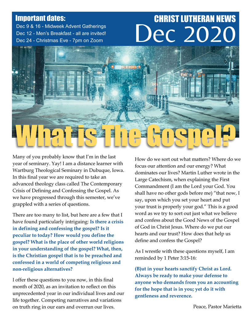 2020 10 Oct CLCFW newsletter
